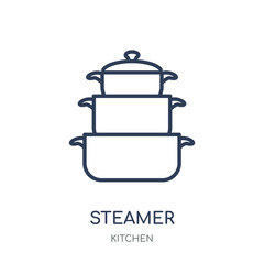 steamer icon. steamer linear symbol design from Kitchen collection.