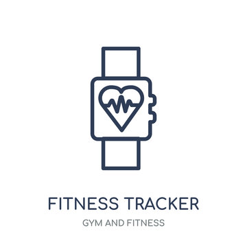 Fitness Tracker icon. Fitness Tracker linear symbol design from Gym and Fitness collection.