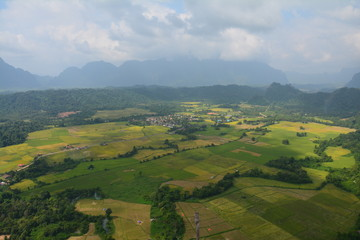 Panorama Pha Ngern Vang Vieng Laos - Viewpoint Mountains