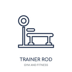 Trainer Rod icon. Trainer Rod linear symbol design from Gym and Fitness collection.