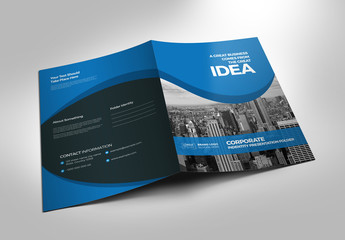 Blue Presentation Folder Layout