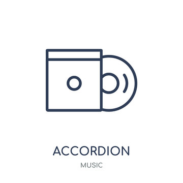 Accordion icon. Trendy Modern Simple Accordion linear symbol design from music collection.