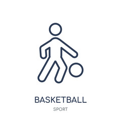 Basketball icon. Basketball linear symbol design from sport collection.