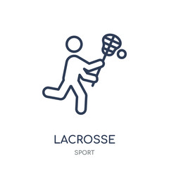 Lacrosse icon. Lacrosse linear symbol design from sport collection.