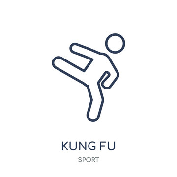 kung fu icon. kung fu linear symbol design from sport collection.