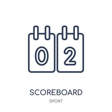 Scoreboard icon. Scoreboard linear symbol design from sport collection.