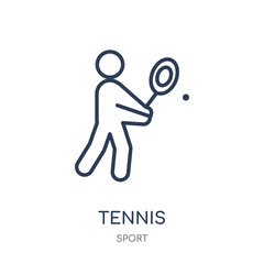 Tennis icon. Tennis linear symbol design from sport collection.