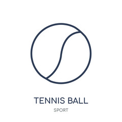 Tennis ball icon. Tennis ball linear symbol design from sport collection.