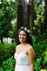 Portrait of Beautiful Bride in Northwest Forest