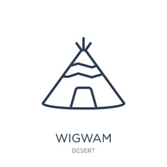Wigwam icon. Trendy flat vector Wigwam icon on white background from Desert collection