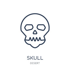 Skull icon. Trendy flat vector Skull icon on white background from Desert collection