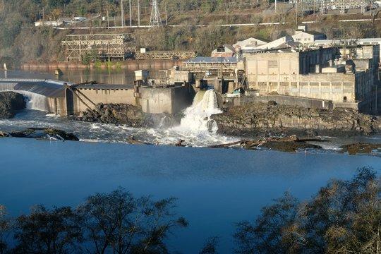 Old paper mill Willamette Falls Oregon City