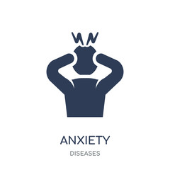 Anxiety icon. Anxiety filled symbol design from Diseases collection.