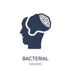 Bacterial meningitis icon. Bacterial meningitis filled symbol design from Diseases collection.