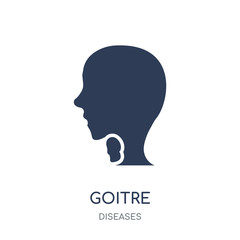 Goitre icon. Goitre filled symbol design from Diseases collection.