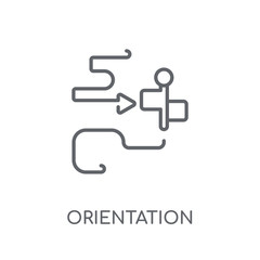 Orientation linear icon. Modern outline Orientation logo concept on white background from camping collection