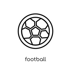 Football icon. Trendy modern flat linear vector Football icon on white background from thin line sport collection