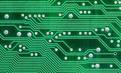 Macro of a printed circuit board of a computer
