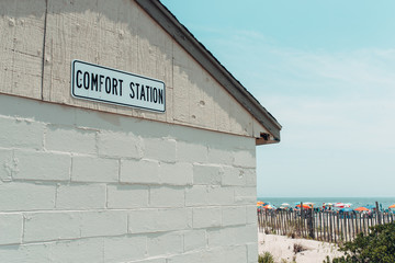 Comfort Station by a beach