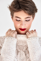 Woman Wearing Winter Cloth
