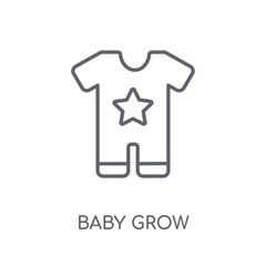 Baby Grow linear icon. Modern outline Baby Grow logo concept on white background from Clothes collection