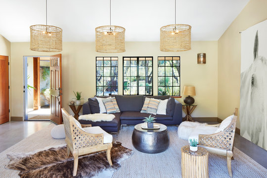 Architecture image of living room with sofa and chairs