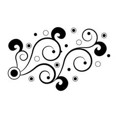 Isolated arabesque vintage pattern. Vector illustration design
