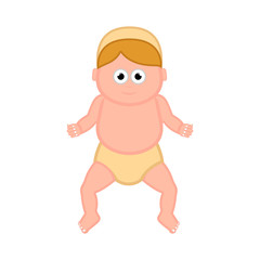 Isolated baby jesus cartoon character. Christmas. Vector illustration design