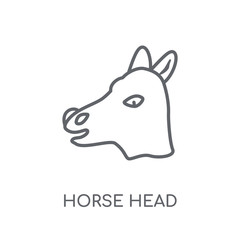 Horse Head linear icon. Modern outline Horse Head logo concept on white background from Culture collection