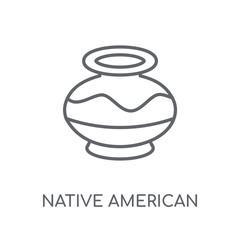 Native American Pot linear icon. Modern outline Native American Pot logo concept on white background from Culture collection