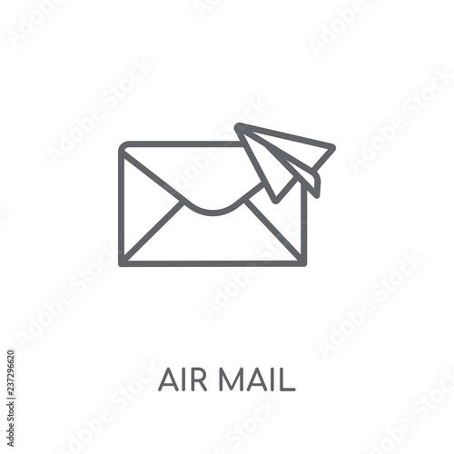 Air mail linear icon  Modern outline Air mail logo concept