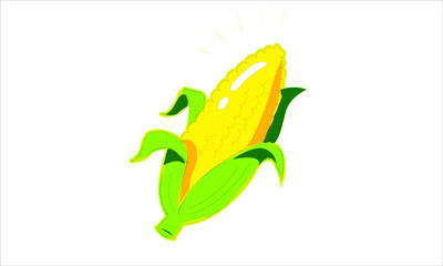 This is a cartoony image of a stack of corn