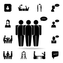 people with a communication bubble icon. Detailed set of conversation icons. Premium graphic design. One of the collection icons for websites, web design, mobile app