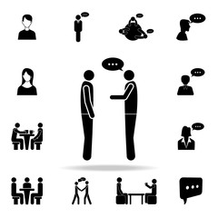 dialogue between two people icon. Detailed set of conversation icons. Premium graphic design. One of the collection icons for websites, web design, mobile app