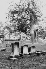 Old, Weathered Tombstones
