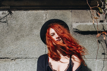 Portrait of ginger woman