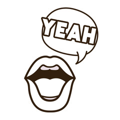 lips saying yeah avatar character