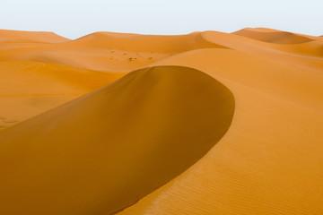 Golden dunes at sunset
