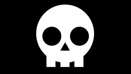 Flat 2d skull icon