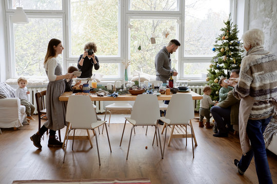 Christmas dinner together