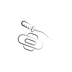 Sanitary, tampon, pad hand drawn icon. One of the women health icons for websites, web design, mobile app