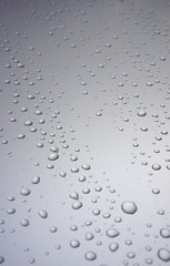 Raindrops on metal surface