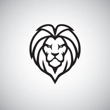 Lion Head Logo Simple Vector