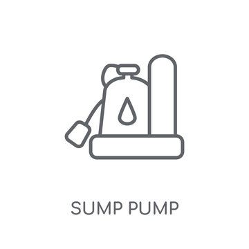 Sump Pump linear icon. Modern outline Sump Pump logo concept on white background from Furniture and Household collection
