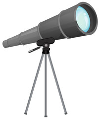 Wall Mural - A telescope on wgite background