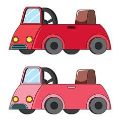 Set of kid car