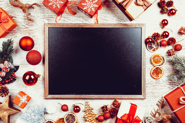Christmas frame with place for texting