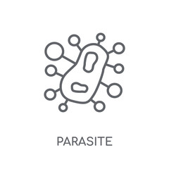 parasite linear icon. Modern outline parasite logo concept on white background from Hygiene collection
