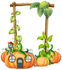 Pumpkin in nature frame