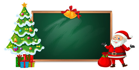 Christmas on blackboard banner